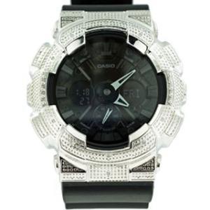 カシオ Gショック ダイヤモンド カスタム ウォッチ シルバー ブラック GA-120 CASIO G-SHOCK Diamond Custom Watch Silver Black GA-120|cio