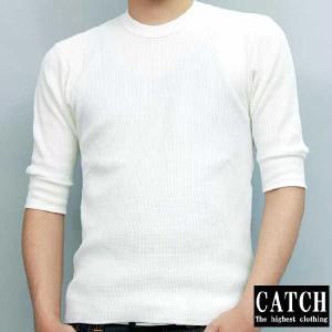 キャッチ サーマル ハーフスリーブ Tシャツ ホワイト CATCH THERMAL HALF SLEEVE TEE White|cio