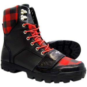 Creative Recreation Dio Select Boots Black/Red/Buffalo Print クリエイティブ レクリエーション ディオ ブーツ ブラック/レッド/バッファロープリント|cio