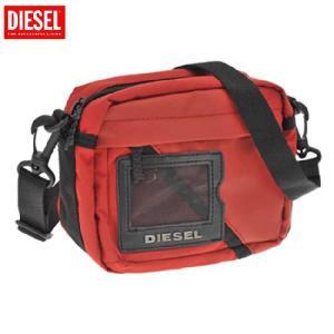 【SALE】<br>ディーゼル ショルダーバッグ X00101 レッド ブラック DIESEL Shoulder Bag X00101 Red Black|cio