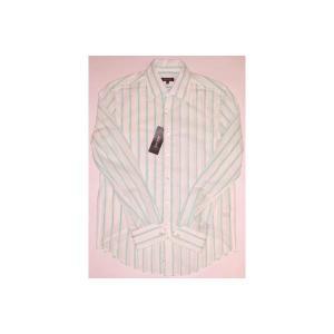 【SALE】DKNY L/S SHIRTS White/Lime ダナキャランニューヨーク L/S シャツ ホワイト/ライム|cio