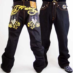 Ed Hardy Mens Denim Jeans Bee Sign Pocket エドハーディー メンズ デニム ジーンズ ビー サイン ポケット|cio