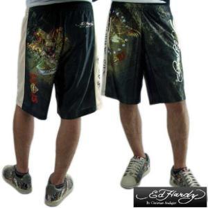 エドハーディースポーツ ショートパンツ ブラック ED HARDY SPORTS Short pant SMLOLKS605 M LKS|cio