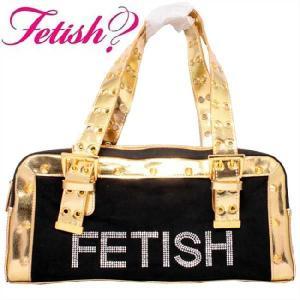 フェティッシュ レディース バッグ スクエア バッグ フェティッシュ クリスタル ブラック ゴールド FETISH Ladies' bag FH12NC Small Square Bag FETISH Crystal cio