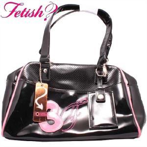 フェティッシュ レディース バッグ ミニボストン ブラック ピンク ETISH Ladies' bag Mini Boston|cio