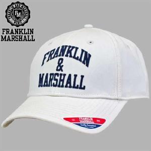 フランクリンアンドマーシャル ベースボール キャップ 55037 アンティーク ホワイト FRANKLIN&MARSHALL BASEBALL CAP 55037 ANTIQUE WHITE|cio