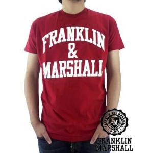 【SALE】Franklin&Marshall TSMC020 JerseyRoundNeck Scarlet フランクリンアンドマーシャル S/S Tシャツ ジャージー ラウンド ネック ショート スカーレット|cio