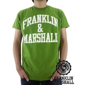 【SALE】Franklin&Marshall TSMC020 JerseyRoundNeck Green フランクリンアンドマーシャル S/S Tシャツ ジャージー ラウンド ネック ショート グリーン|cio