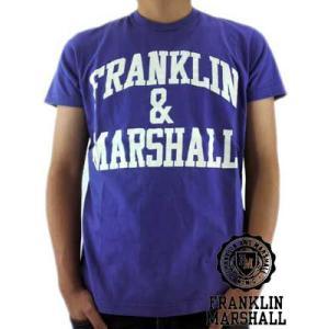 【SALE】Franklin&Marshall S/S TEE Jersey Round Neck Purple S/S Tシャツ ジャージー ラウンド ネック パープル|cio