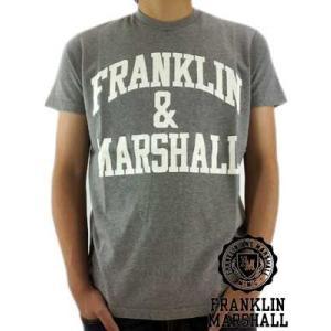 【SALE】Franklin&Marshall S/S TEE Jersey Round Neck Gray S/S Tシャツ ジャージー ラウンド ネック グレー|cio