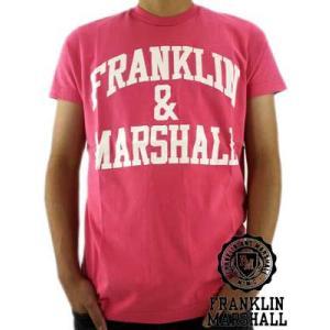 【SALE】Franklin&Marshall S/S TEE Jersey Round Neck Pink S/S Tシャツ ジャージー ラウンド ネック ピンク|cio