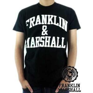【SALE】Franklin&Marshall S/S TEE Jersey Round Neck Black S/S Tシャツ ジャージー ラウンド ネック ブラック|cio