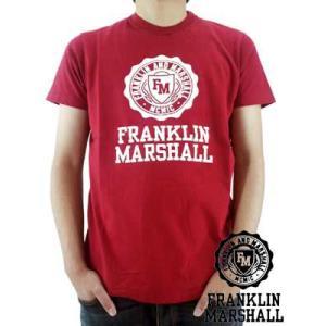 【SALE】Franklin&Marshall S/S TEE Jersey Round Neck Scarlet S/S Tシャツ ジャージー ラウンド ネック スカーレット|cio