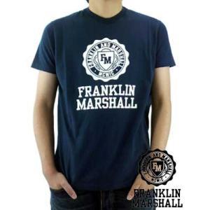【SALE】Franklin&Marshall S/S TEE Jersey Round Neck Navy S/S Tシャツ ジャージー ラウンド ネック ネイビー|cio