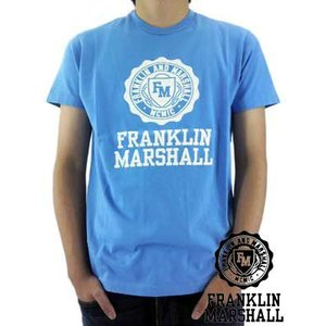 【SALE】Franklin&Marshall S/S TEE Jersey Round Neck Blue S/S Tシャツ ジャージー ラウンド ネック ブルー|cio