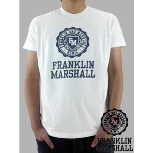 【SALE】フランクリンアンドマーシャル S/S Tシャツ ジャージー ラウンド ネック ホワイト Franklin&Marshall S/S TEE Jersey Round Neck White|cio