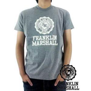【SALE】フランクリンアンドマーシャル S/S Tシャツ ジャージー ラウンド ネック グレー Franklin&Marshall S/S TEE Jersey Round Neck Gray|cio