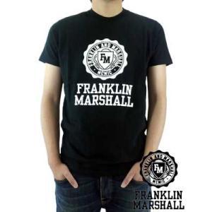 【SALE】フランクリンアンドマーシャル S/S Tシャツ ジャージー ラウンド ネック ブラック Franklin&Marshall S/S TEE Jersey Round Neck Black|cio
