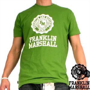 【SALE】フランクリンアンドマーシャル SS Tシャツ ジャージー ラウンド ネック ケリー グリーン Franklin&Marshall S/S TEE JerseyRoundNeck Kelly Green|cio