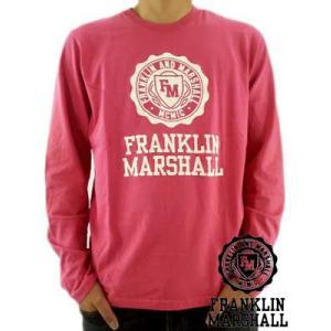 【SALE】Franklin&Marshall L/S TEE JerseyRoundNeck Pink フランクリン&マーシャル L/S Tシャツ ジャージー ラウンド ネック ロング ダスク ピンク cio
