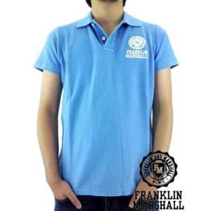 【SALE】Franklin&Marshall S/S POLO SHIRT PIQUET  Blue フランクリンアンドマーシャル S/S ポロシャツ ピケ ブルー|cio