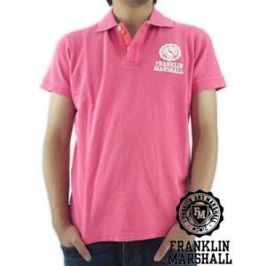 【SALE】Franklin&Marshall S/S POLO SHIRT PIQUET  Pink フランクリンアンドマーシャル S/S ポロシャツ ピケ ピンク|cio