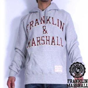フランクリンアンドマーシャル スウィート フーディー 101006 オンタリオ FRANKLIN&MARSHALL SWEAT HOODIE 101006 ONTARIO(Gray)|cio