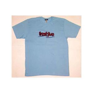 【SALE】FRESHJIVE S/S TEE LightBlue/Red フレッシュジャイブ S/S Tシャツ ライトブルー/レッド|cio