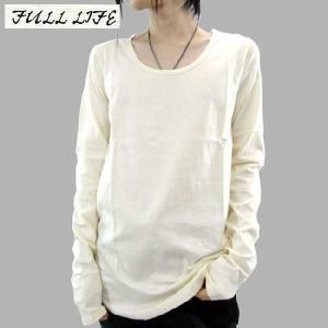 フルライフ L/S ティー Uネック カットソー ホワイト FULL LIFE L/S TEE U-NECK CUT & SEW White|cio