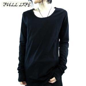 フルライフ L/S ティー Uネック カットソー ブラック FULL LIFE L/S TEE U-NECK CUT & SEW Black|cio