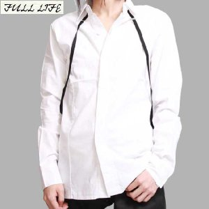 フルライフ サスペンダー シャツ ホワイト FULL LIFE Suspenders Shirt White|cio