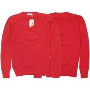 【SALE】GAS BASIC KEMPS PLAIN L/S V NECK SWEATER Sweet Red ガス ベーシック ケンプス プレーン L/S Vネック セーター スウィート レッド|cio
