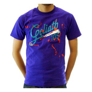 【SALE】GOLIATH Golighth 105 SS TEE Purple ゴライアス ゴライアス 105 S/S Tシャツ パープル|cio