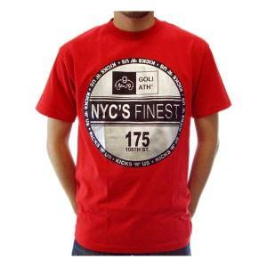 【SALE】GOLIATH NYCS FINEST 175 S/S TEE Red/Silver ゴライアス ニューヨークシティーズ ファイネスト 175 S/S Tシャツ レッド/シルバー|cio