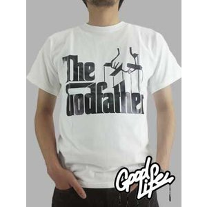 【SALE】Good Life×THE GODFATHER THE GODFATHER  White/Black  グッドライフ×ゴッドファーザー S/S Tシャツ ザ ゴッドファーザー ロゴ ホワイト/ブラック|cio