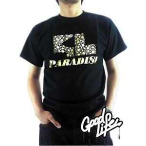 【SALE】Good Life SS TEE Welcome To The Paradise Gold グッドライフ S/S Tシャツ ウェルカム トゥ ザ パラダイス ゴールド|cio