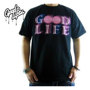 【SALE】Good Life S/S TEE LAST NEON LOGO TEE Black/Purple グッドライフ S/S Tシャツ ラスト ネオン ロゴ TEE ブラック/パープル|cio