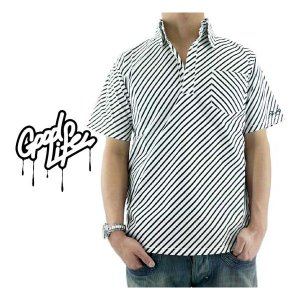 【SALE】Good Life Pullover Stripe Shirt Black/White グッドライフ プルオーバー ストライプシャツ ブラック/ホワイト|cio