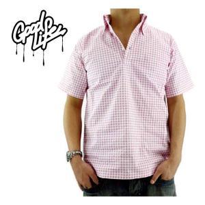【SALE】Good Life Pullover Gingham Shirt Pink グッドライフ プルオーバー ギンガムシャツ ピンク|cio