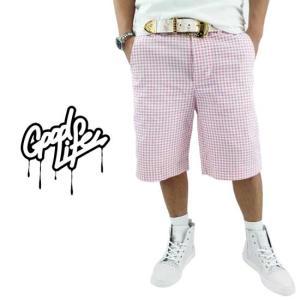 Good Life Cargo Pants Gingham Pink グッドライフ カーゴパンツ ギンガムチェック ピンク|cio