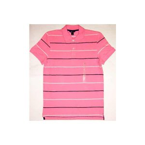 【SALE】H&M S/S POLO SHIRTS Boarder Pink ヘンネスアンドモーリッツ(エイチアンドアム) ポロシャツ ボーダー ピンク cio
