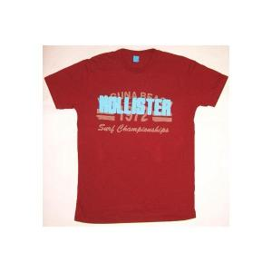HOLLISTER S/S TEE Wine Red ホリスター S/S Tシャツ ワインレッド|cio