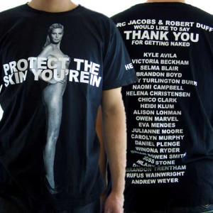 Marc by Marc Jacobs HEIDI KLUM Nude Photo Charity マークバイマークジェイコブス ハイディ・クルム ヌードフォト チャリティー S/S Tシャツ ブラック|cio