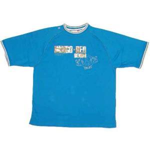 【SALE】INDIGO RED S/S TEE Turquoise Blue インディゴレッド S/S Tシャツ ターコイズブルー|cio