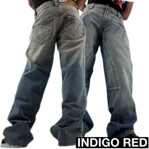 【SALE】INDIGO RED DENIM PANTS 01 BLUE WASH インディゴレッド デニムパンツ 01 ブルーウォッシュ|cio