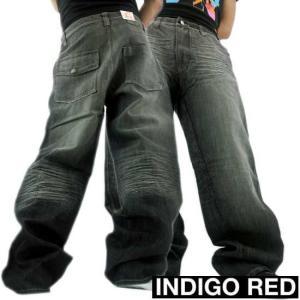 【SALE】INDIGO RED DENIM PANTS BLACK WASH  インディゴレッド デニムパンツ ブラック ウォッシュ|cio