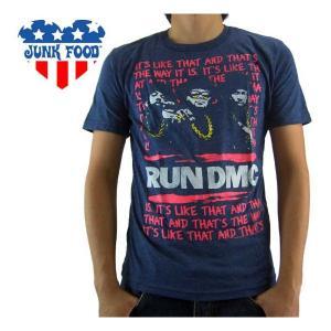 【SALE】ジャンクフード S/S Tシャツ ラン ディーエムシー ニュー ネイビー RDO44-159|cio
