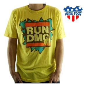 【SALE】JUNK FOOD SS T-Shrit RUN DMC Bright Yellow ジャンクフード S/S Tシャツ ラン ディーエムシー ブライト イエロー|cio