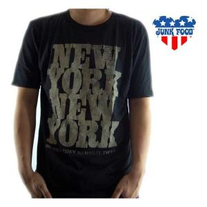 【SALE】JUNK FOOD SS T-Shrit NEW YORK Black Wash ジャンクフード S/S Tシャツ ニューヨーク ブラック ウォッシュ|cio