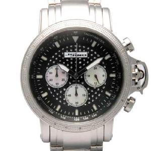 ジョジーノ R.O.N.Y. クロノグラフ ダイヤモンド ウォッチ IJ1057 ブラック JOJiNO R.O.N.Y. CHRONOGRAPH Diamond Watch IJ1057 Black|cio